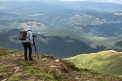 Photographe en montagnes Photos libres de droits