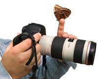 Photographe et guindineau Photographie stock libre de droits