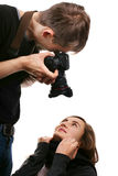 Photographe et modèle Photo stock