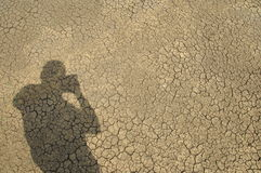 Photographe et son ombre Photographie stock libre de droits