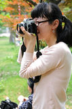 Photographe féminin Images stock