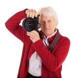 Photographe féminin aîné Images libres de droits