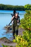 Photographe féminin de nature Photo stock
