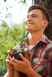 Photographe heureux Photographie stock