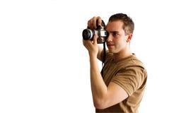 Photographe mâle Photographie stock libre de droits
