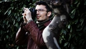 Photographe mâle Photographie stock