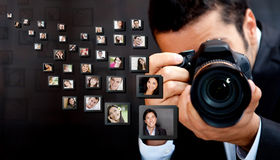 Photographe mâle Photo stock