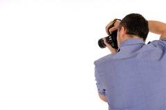 Photographe mâle d'illustration de prise arrière Photos libres de droits