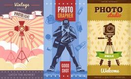 Photographe Poster Set de vintage Image libre de droits