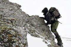 Photographe professionnel extérieur en hiver Image stock