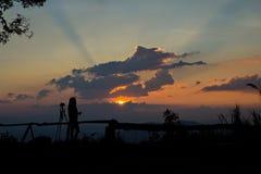 Photographe silhouetté Photographie stock libre de droits