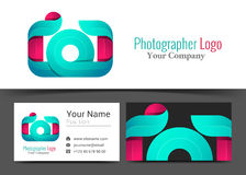 Photographe Studio Corporate Logo d'appareil-photo et signe de carte de visite professionnelle de visite illustration stock