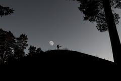 Photographe sur la colline image libre de droits
