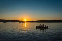 Photographe Tour de Maine Sunrise Wooden Boat Festival photos libres de droits