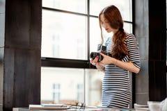 Photographe Working Photographie stock