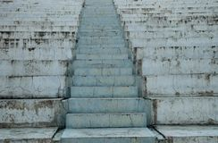 Photographed close-up stairs to the street. The structure is made of concrete slabs stock photo