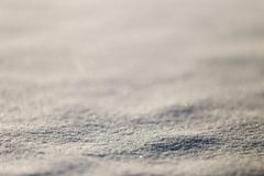 Photographed close-up of white snow Stock Photo