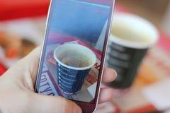 Photographed coffee Stock Photo