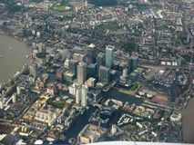 London from a bird`s-eye view. Tower Hamlets. Autumn 2012. royalty free stock photography