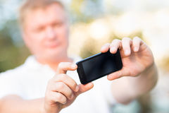 Photographed on a smartphone Stock Images