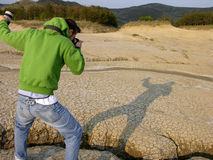 Photographer. Searching His Subject Royalty Free Stock Photos