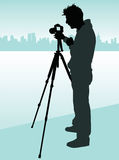Photographer. Vector illustration of a photographer Stock Photography