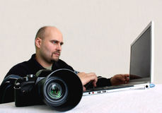 A photographer  Royalty Free Stock Photography