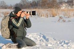 Photographer. Portrait of the photographer Stock Photos