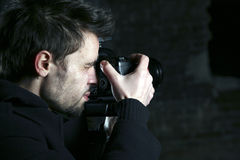 Photographer. The professional photographer at work Royalty Free Stock Photography