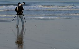 Photographer. On beach Stock Photography