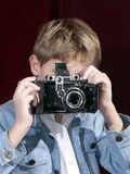 Photographer. Boy photographer Royalty Free Stock Photography