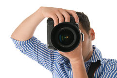 Photographer. Shot of a photographer at work Royalty Free Stock Photography