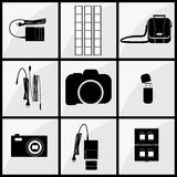 Photographer accessory set Stock Images