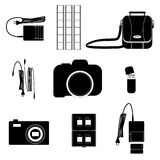 Photographer accessory set Royalty Free Stock Image