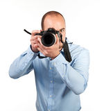 Photographer in action Stock Photography