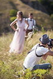Photographer in action Stock Photos