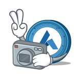 Photographer Ardor coin mascot cartoon. Vector illustration Stock Photography