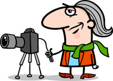 Photographer artist cartoon illustration Stock Images