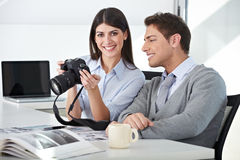 Photographer with assistant Stock Photography