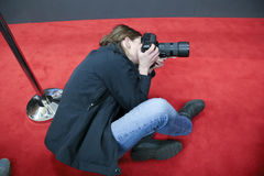 Photographer  attend the award winners press conference Royalty Free Stock Images