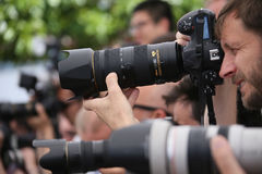 Photographer attends the `120 Beats Per Minute 120 Battements P Royalty Free Stock Photography