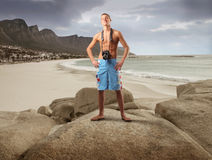 Photographer at the beach Royalty Free Stock Image