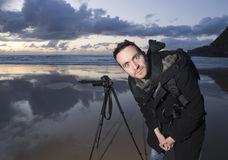 Photographer on the beach Stock Photos