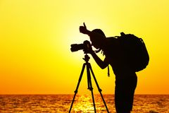 Photographer on the beach Royalty Free Stock Photography