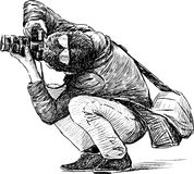 Photographer behind work Royalty Free Stock Image