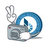 Photographer BitShares coin mascot cartoon. Vector illustration Stock Image