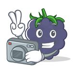 Photographer blackberry mascot cartoon style. Vector illustration Royalty Free Stock Photos
