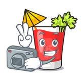 Photographer Bloody Mary Mascot Cartoon Stock Photo