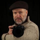 Photographer bracing for the Shot Stock Photos