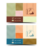 Photographer business card in a flat style. Vector Royalty Free Stock Photography